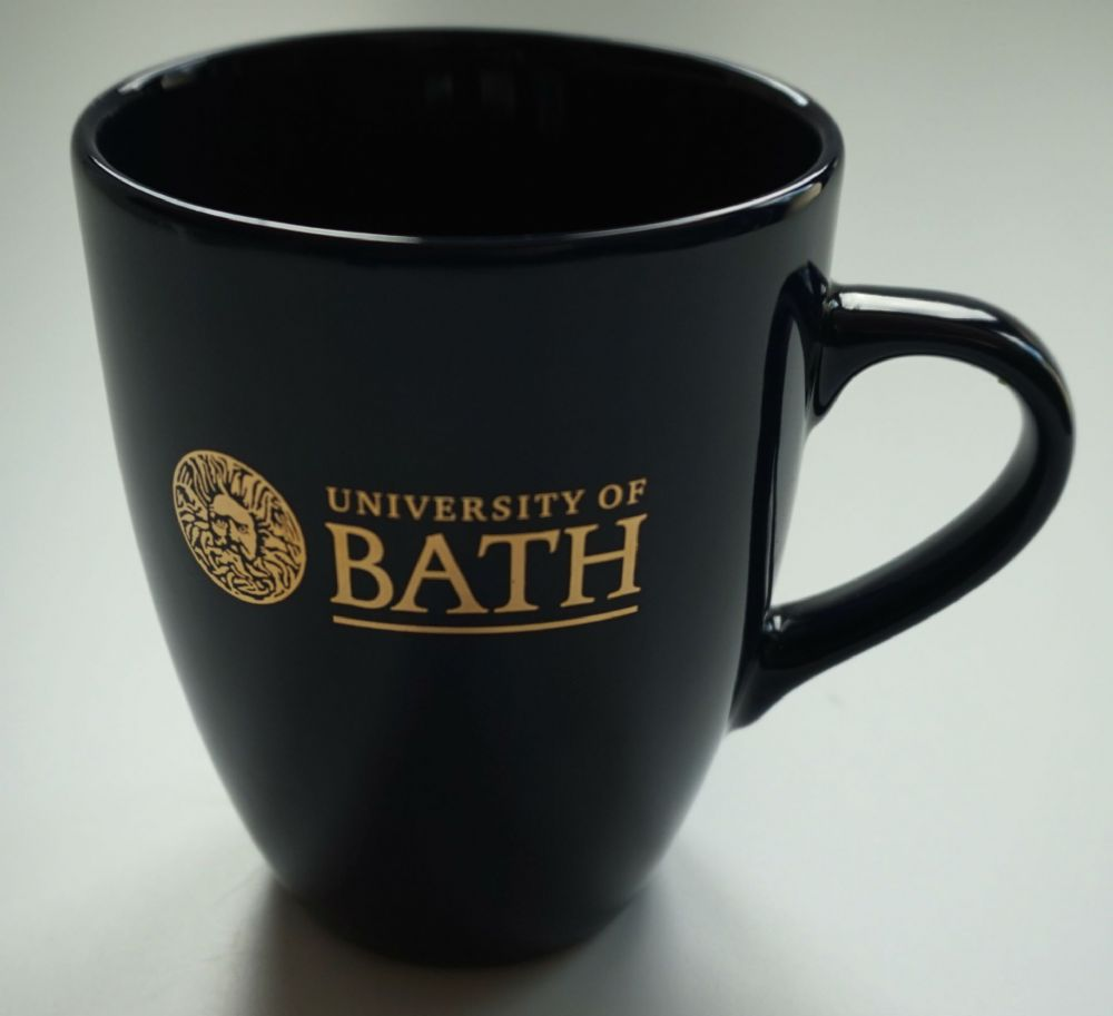 University of Bath Navy Mug with Gold Print